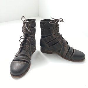 Jeffrey Campbell Ibiza Last Slashed Combat Boots 8
